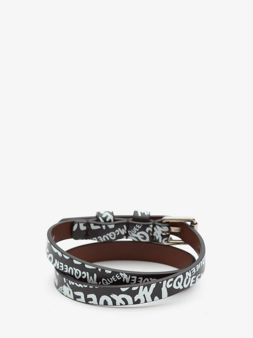 Display a large version of the product image 2 - McQueen Graffiti Double-Wrap Bracelet