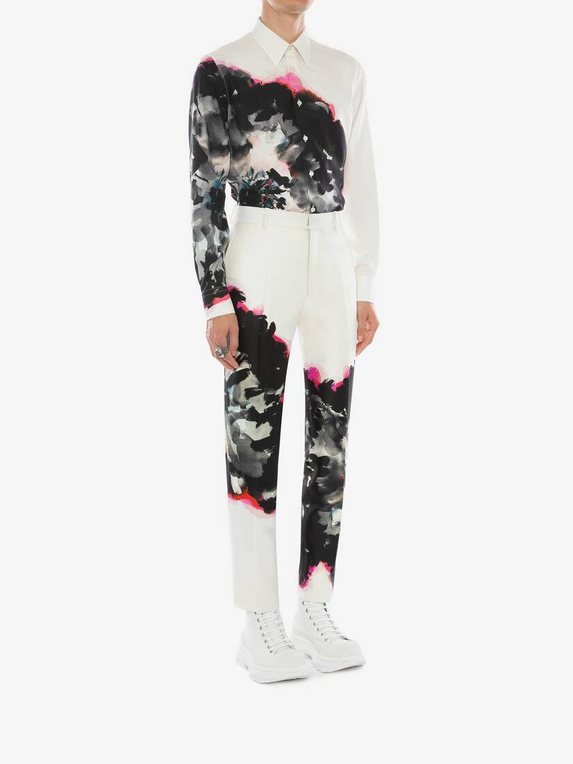Display a large version of the product image 4 - Ink Floral Trousers