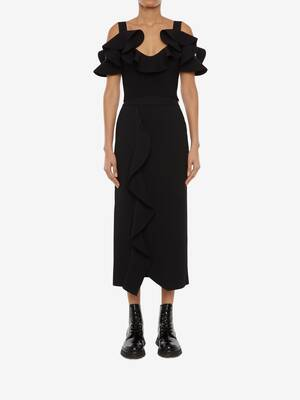 Engineered Sculpted Knit Pencil Skirt
