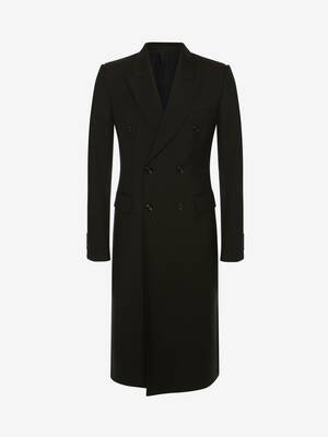 Double-Breasted Wool Gabardine Coat