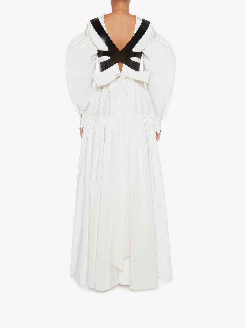 Cotton Silk Poet Sleeve Dress