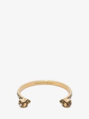Thin Twin Skull Bracelet