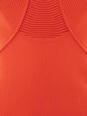 Halterneck Rib Knit Mini Dress