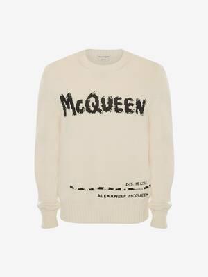 Pull à col rond et graffiti McQueen