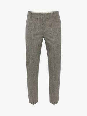 Distressed Prince of Wales Cigarette Trousers