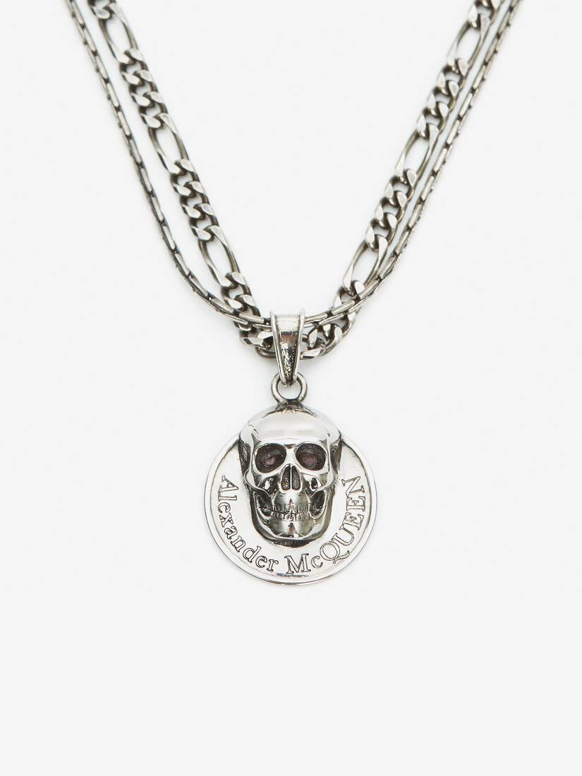 Display a large version of the product image 2 - Skull Coin Pendant