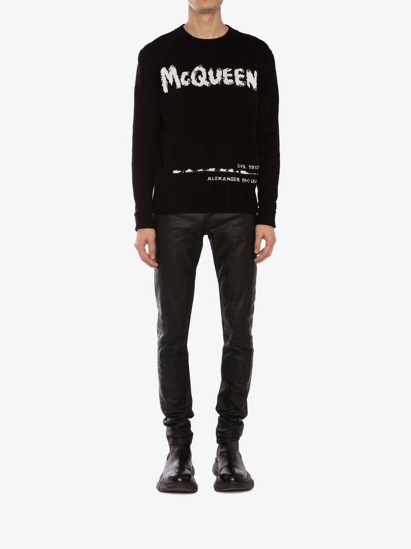 Display a large version of the product image 2 - McQueen Graffiti Crew Neck Jumper