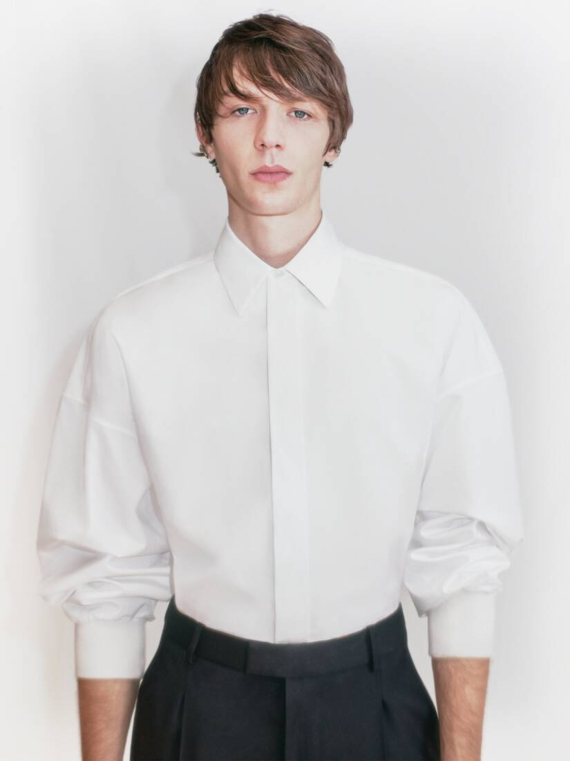 Dropped Shoulder Poplin Shirt