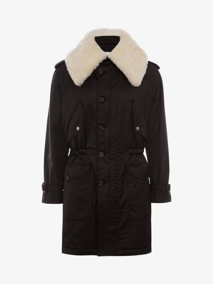Display a large version of the product image 1 - Shearling Trim Parka