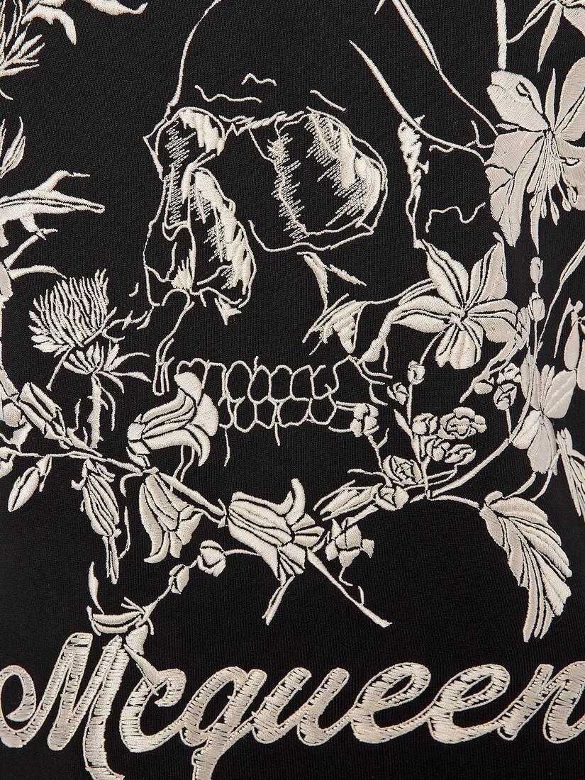 Afficher une grande image du produit 5 - Sweat-shirt à motif Floral Skull déstructuré