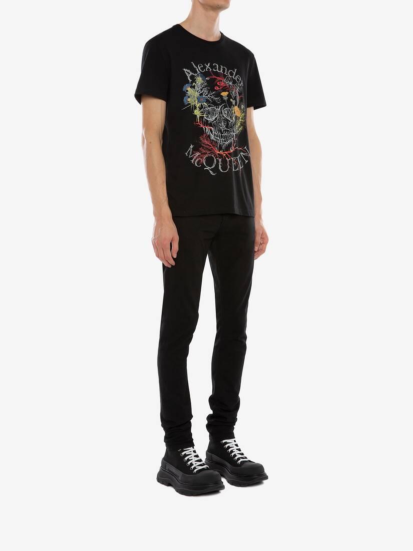 Afficher une grande image du produit 3 - T-shirt Glowing Botanical Skull