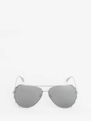 Punk Stud Pilot Sunglasses