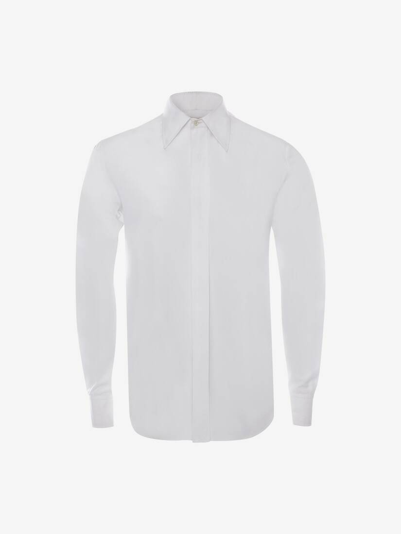 Display a large version of the product image 5 - Pointy Collar Cotton Poplin Shirt
