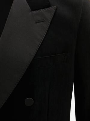 Double Breasted Velvet Tuxedo Jacket