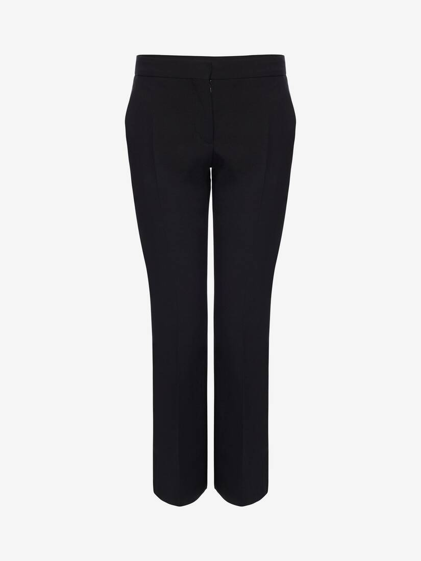 Display a large version of the product image 1 - Light Wool Silk Cigarette Trouser