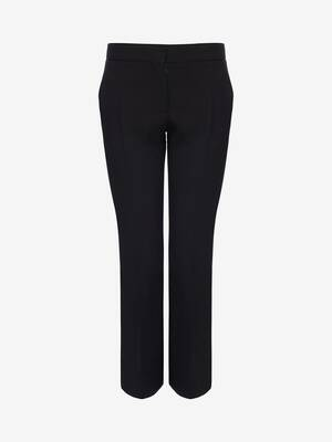 Light Wool Silk Cigarette Trouser