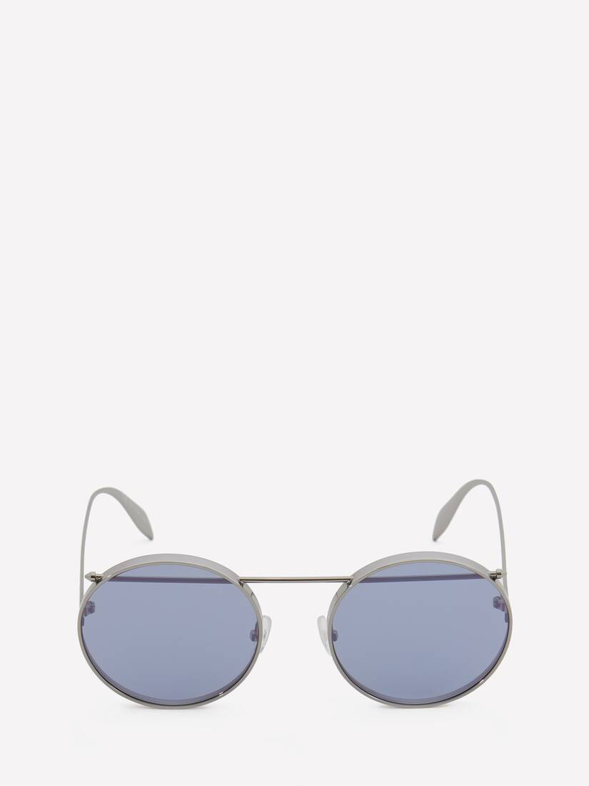 Display a large version of the product image 1 - Piercing Round Metal Sunglasses