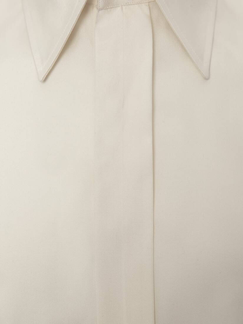 Display a large version of the product image 5 - Pointy Collar Silk Poplin Shirt