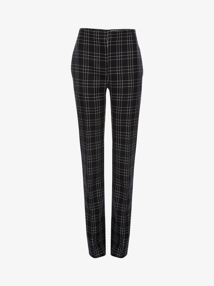 Display a large version of the product image 1 - Welsh Check Cigarette Trouser