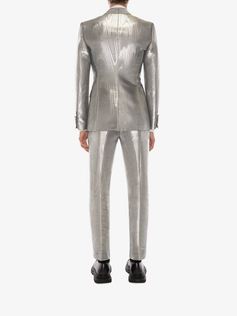 Display a large version of the product image 4 - Metallic Moiré Tuxedo Jacket