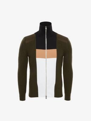 Blouson hybride tricoté