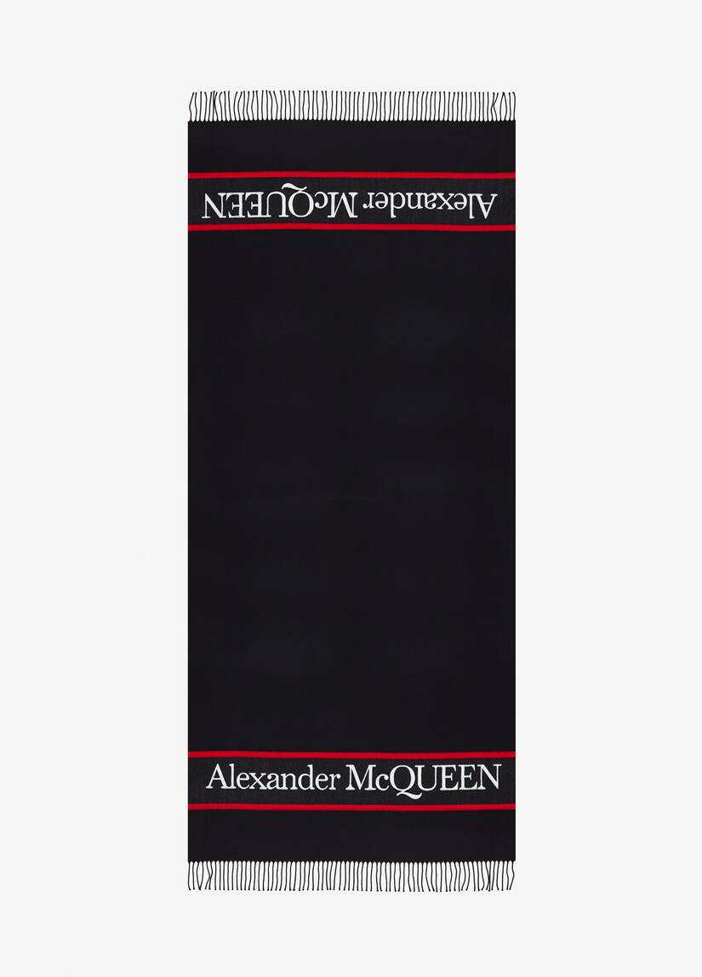 Deckenschal mit Alexander McQueen-Webkante
