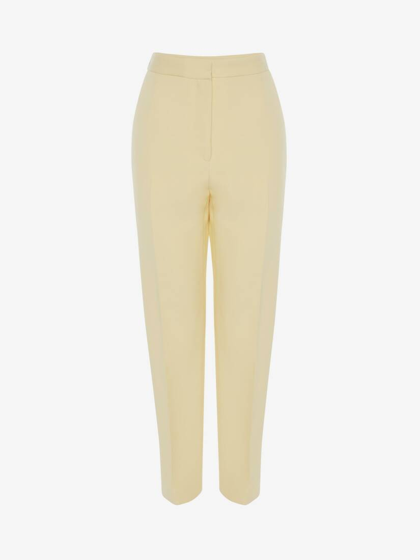 Display a large version of the product image 1 - High Waisted Slim Trouser
