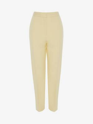 High Waisted Slim Trouser