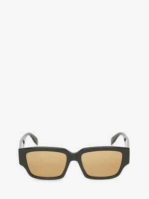 McQueen Graffiti Rectangular Sunglasses
