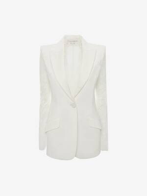 Lace Sleeve Tuxedo Jacket