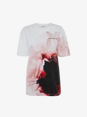 T-shirt à imprimé anémones