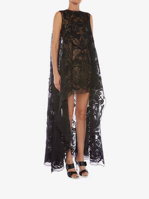Bucolic Embroidered Tulle Dress