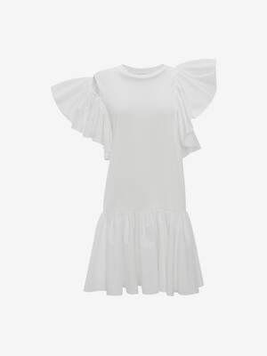 Ruffle Jersey Mini Dress