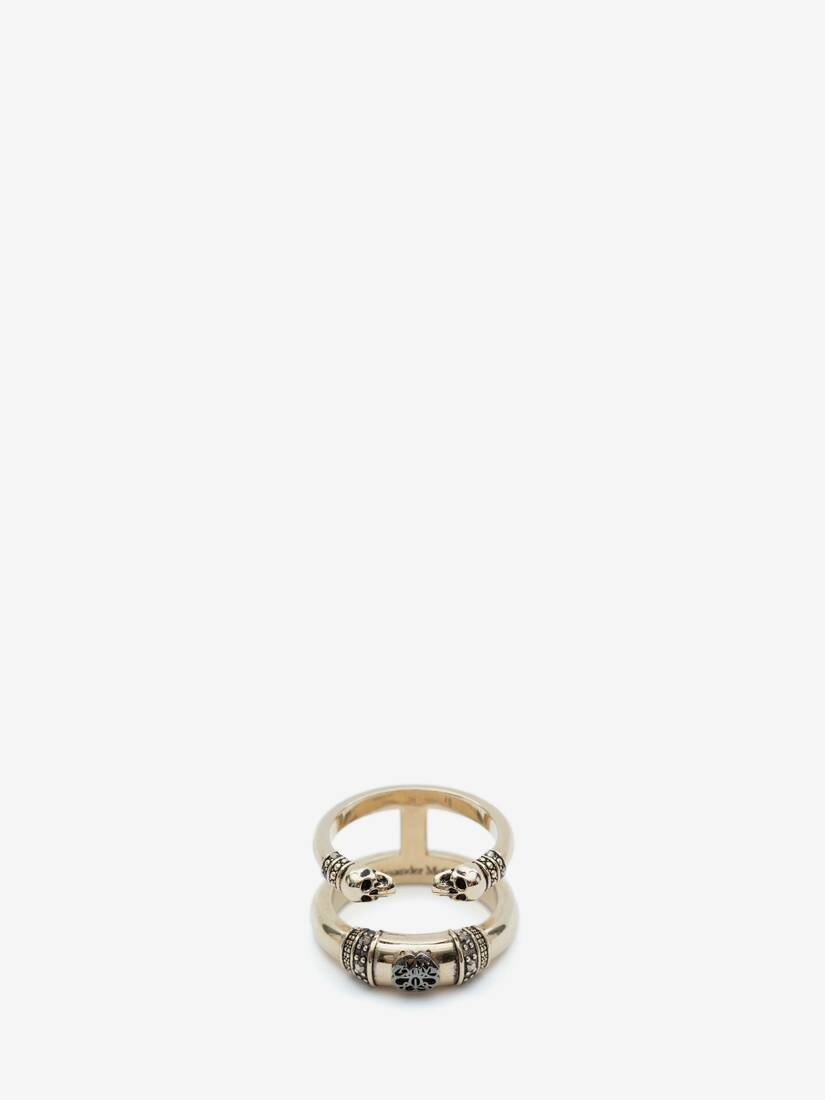 Display a large version of the product image 3 - Skull and Charm Seal Double Ring