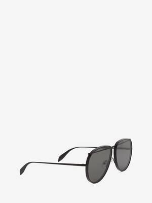 Occhiali da Sole Piercing Aviatore in Metallo
