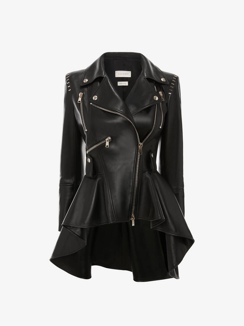 Stapled Leather Biker Jacket