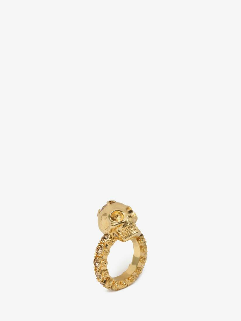 Display a large version of the product image 2 - Anello Skull con Cristalli