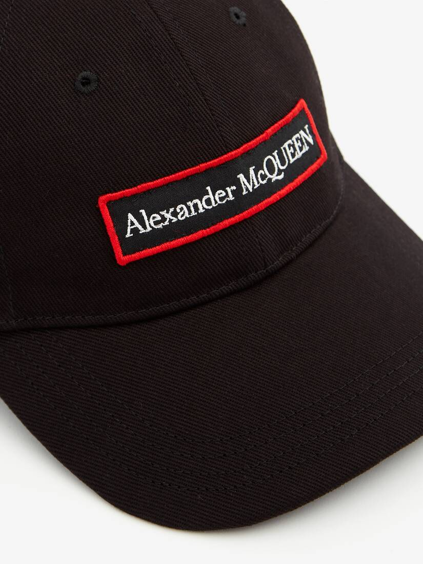 Display a large version of the product image 4 - Embroidered Alexander McQueen Selvedge Baseball Cap