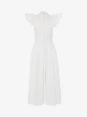 Cotton Piquet Midi Dress