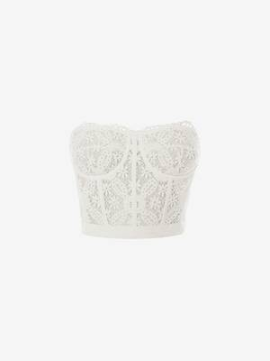 Endangered Flower Lace Bustier Top