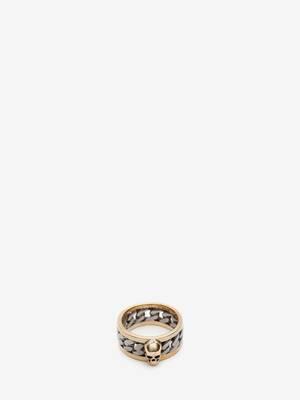 Skull Chain Ring