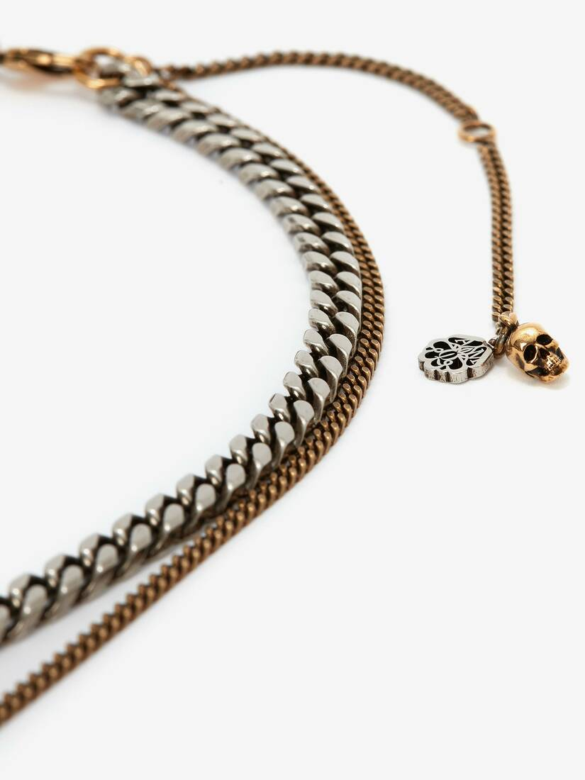 Double Chain Layer Necklace