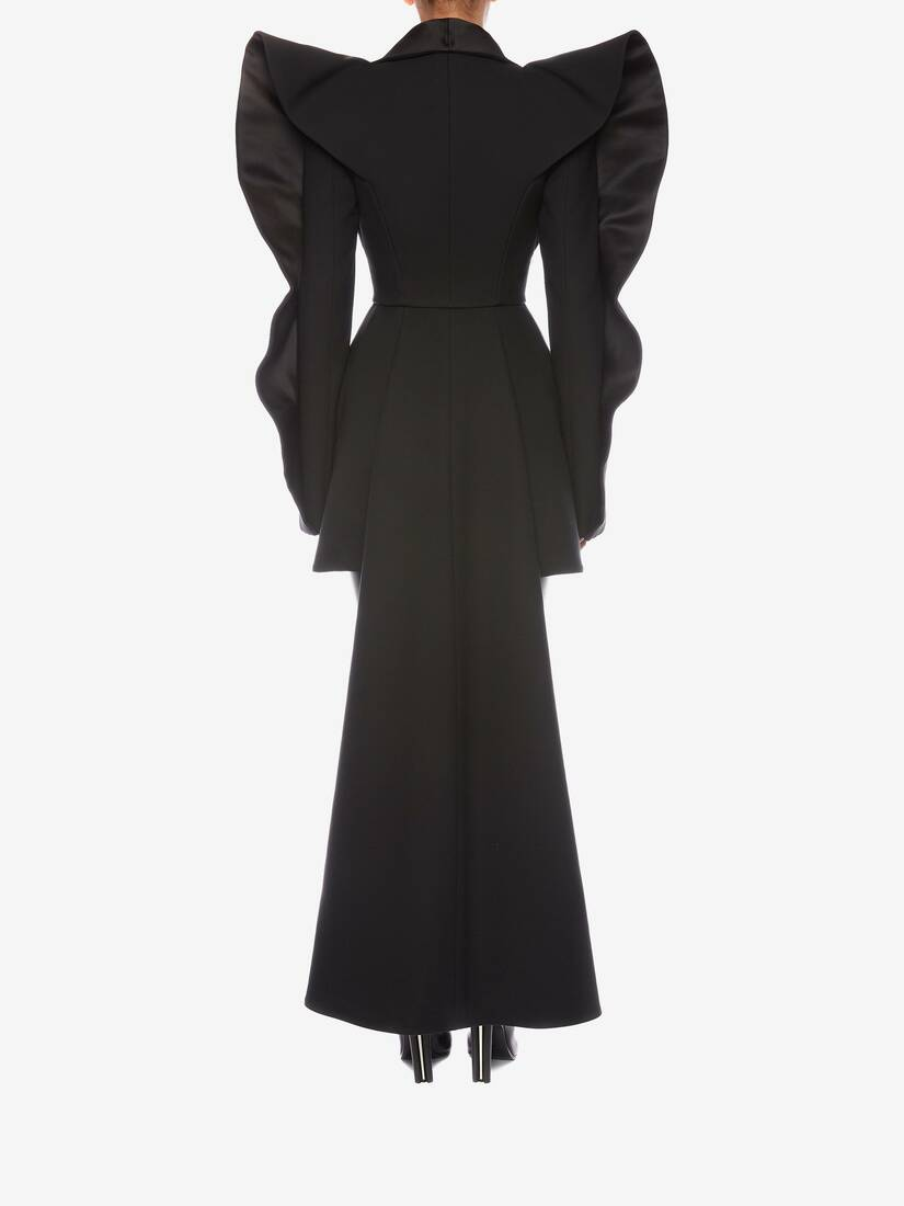 Display a large version of the product image 4 - Heart Sleeve Tuxedo Tailored Dress