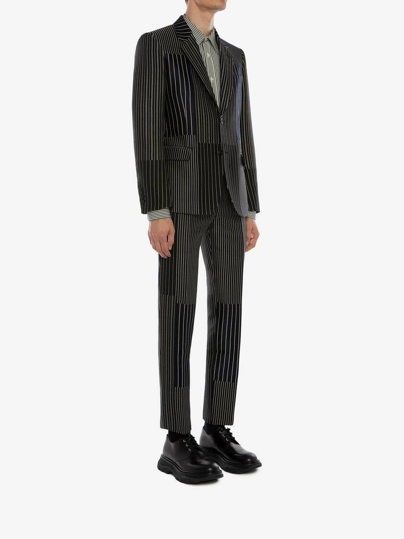 Display a large version of the product image 3 - Patchwork Pinstripe Jacket