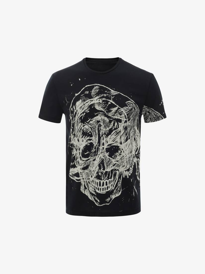 Display a large version of the product image 1 - Etched Skull T-Shirt