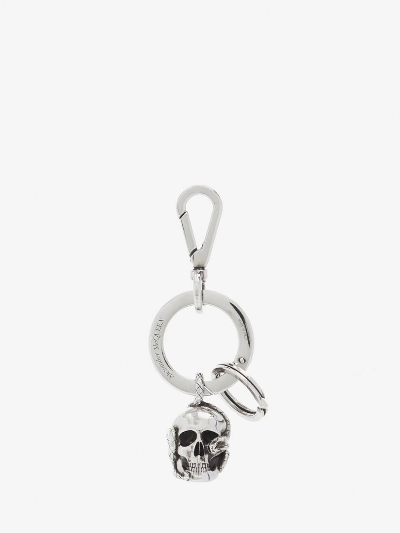 Display a large version of the product image 1 - Skull and Snake Keyring