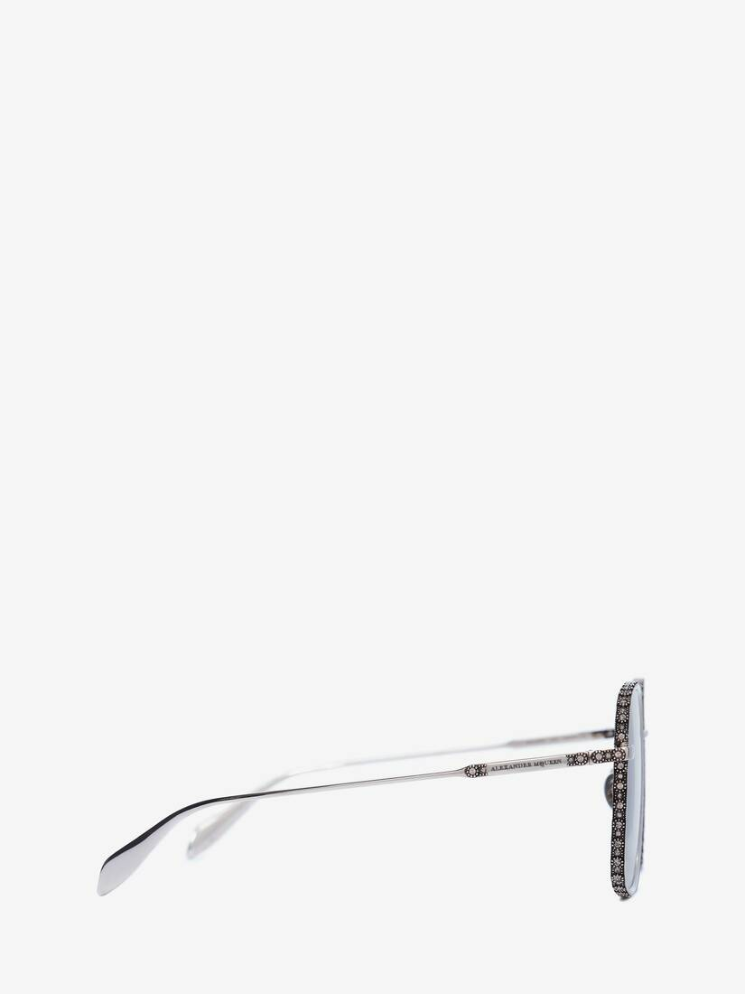 Display a large version of the product image 2 - Jewelled Square Sunglasses
