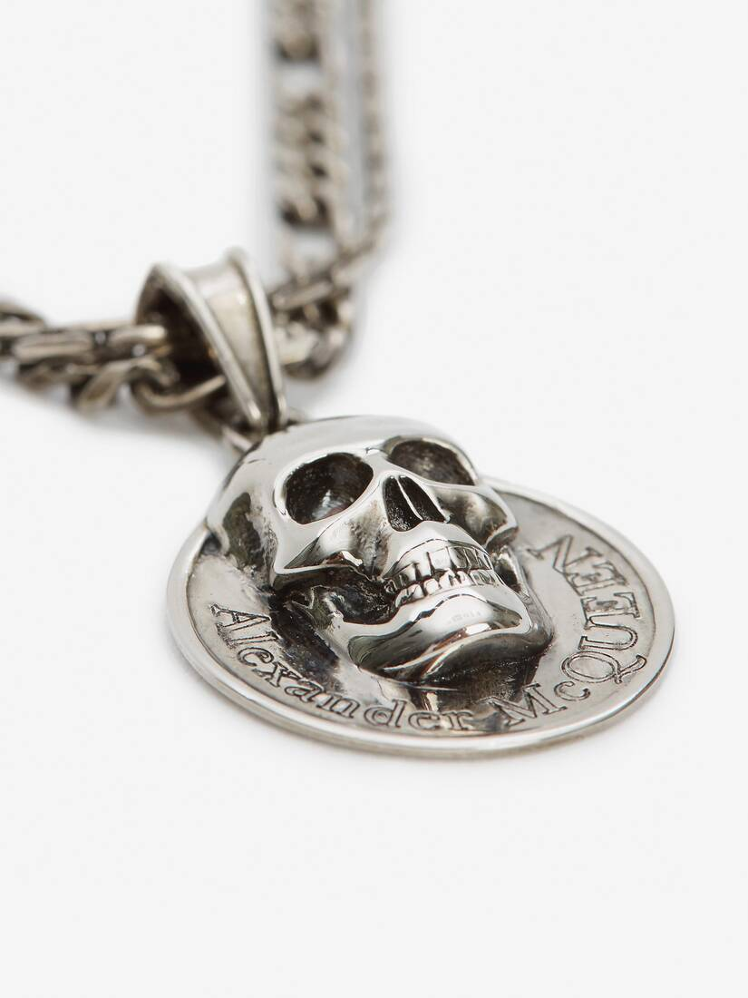 Display a large version of the product image 3 - Skull Coin Pendant