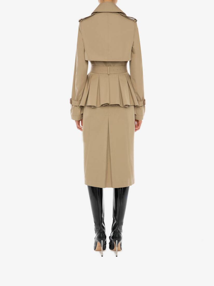 Display a large version of the product image 4 - Peplum Trench Coat