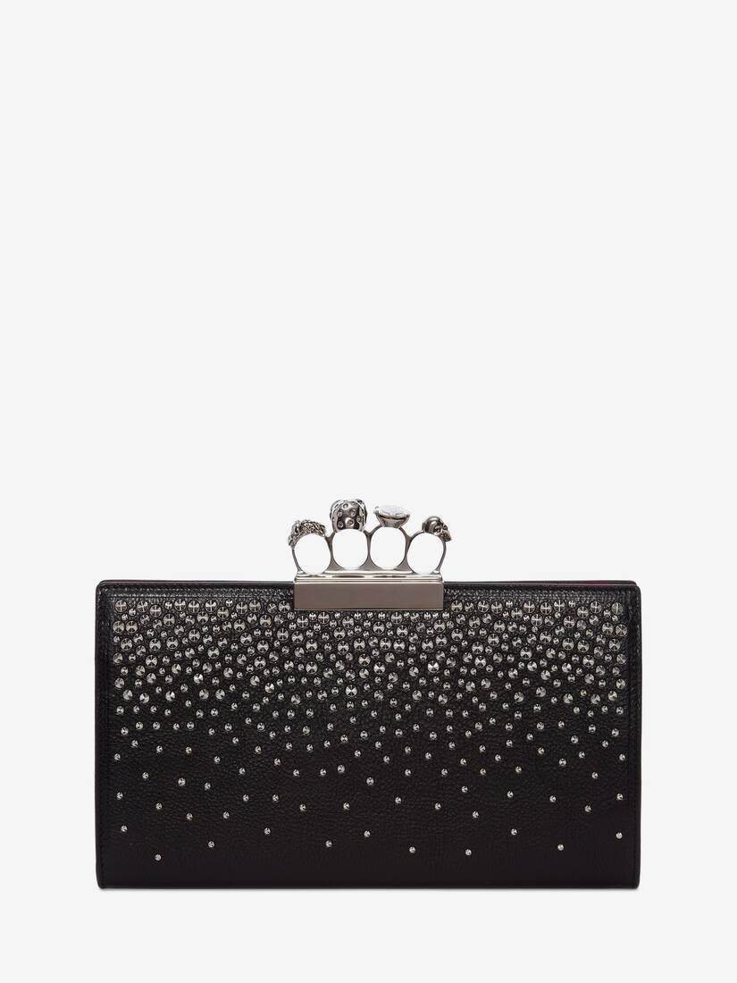 Display a large version of the product image 3 - Skull Four-Ring Flat Pouch